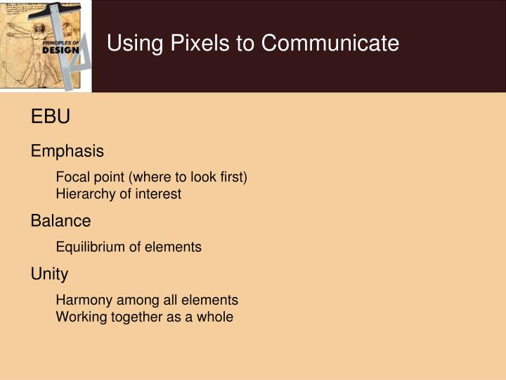 Using Pixels to Communicate