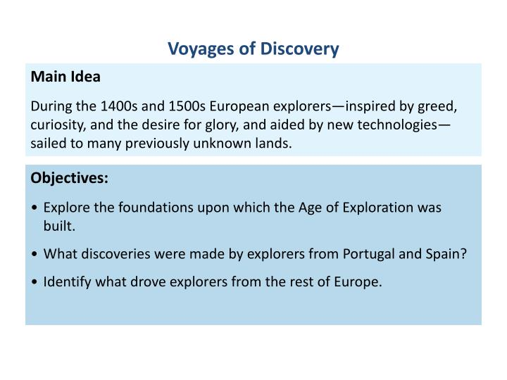 Age Of Exploration Ppt: Objectives: Explore The Foundations Upon Which The