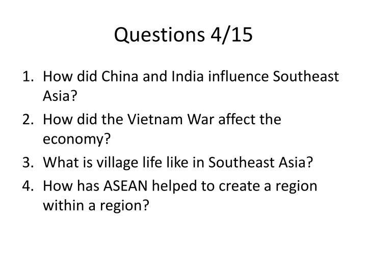 Questions 4/15