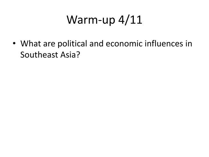 Warm-up 4/11