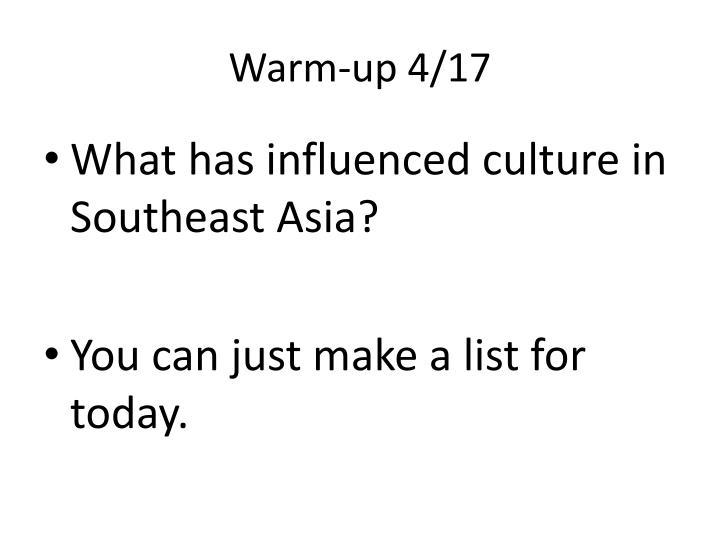 Warm-up 4/17
