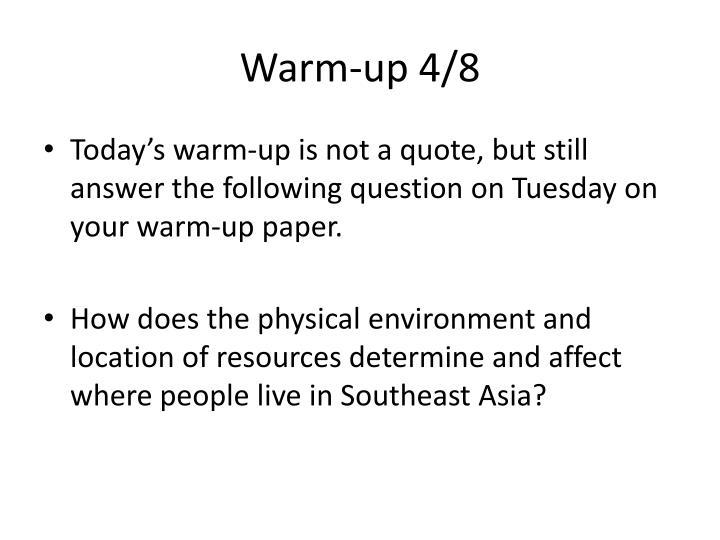 Warm-up 4/8