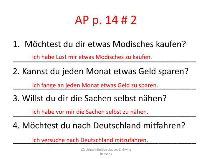 AP p. 14 # 2