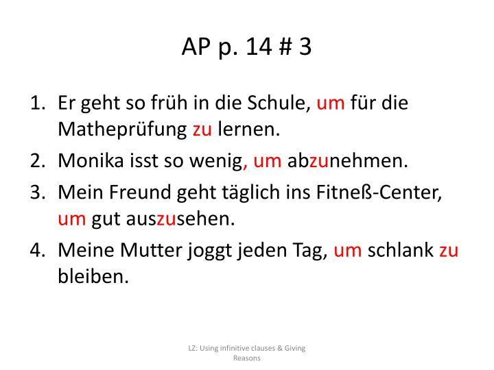 AP p. 14 # 3