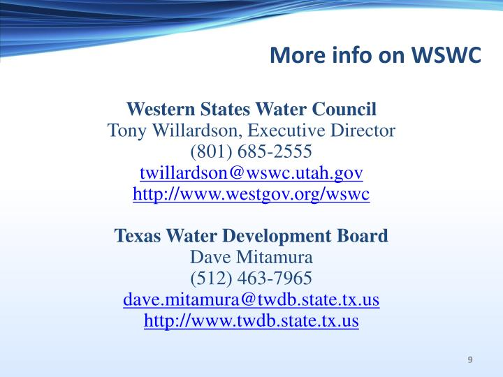 More info on WSWC