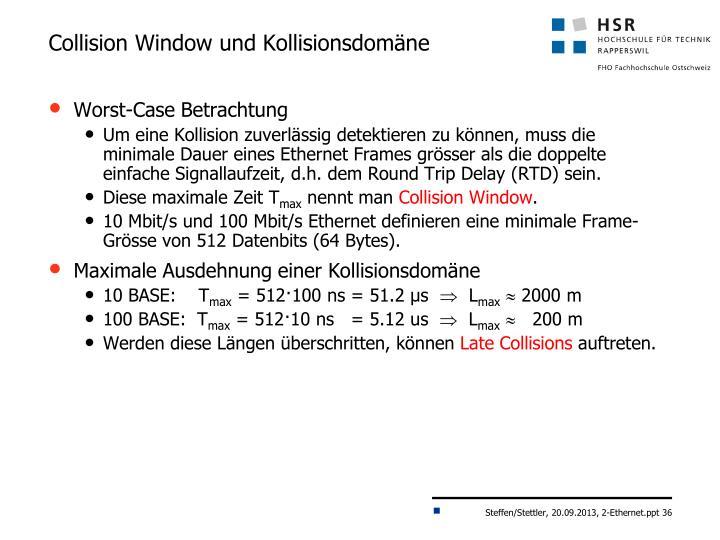Collision Window und Kollisionsdomäne