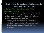exploring religious authority in new media culture