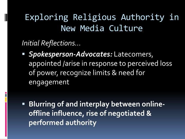 Exploring Religious Authority