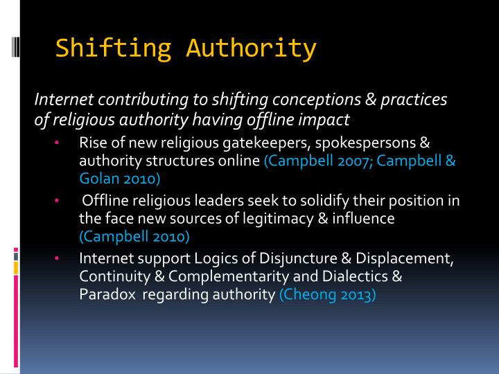 Shifting Authority