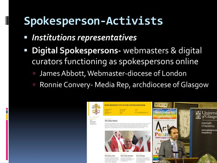 Spokesperson-Activists