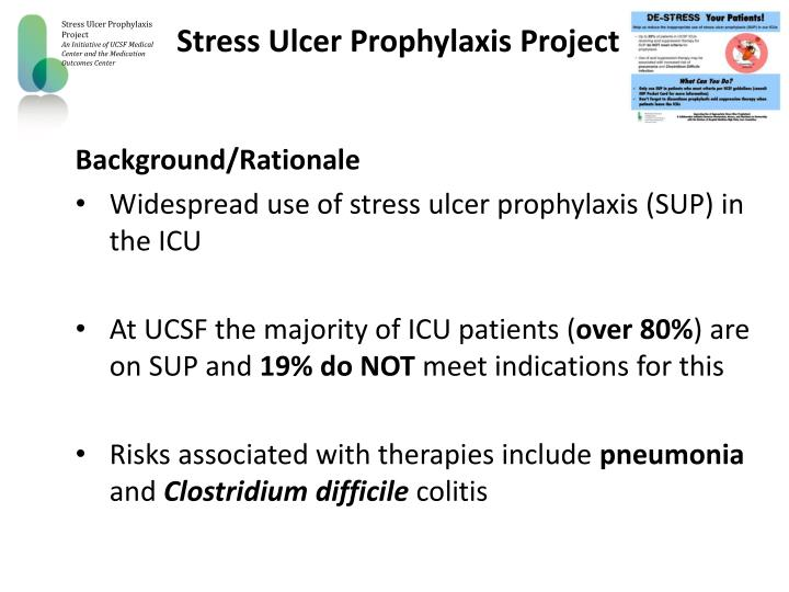 Stress Ulcer Prophylaxis Project