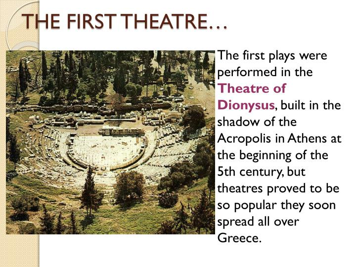 the forms in which theater and drama took in ancient greece in the 5th century It had paid-up intellectuals and progressive politics, yet ancient greece was less civil than we are inclined to remember.
