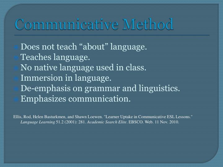 Communicative Method