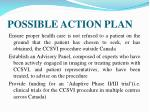 possible action plan