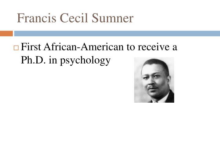 Francis Cecil Sumner