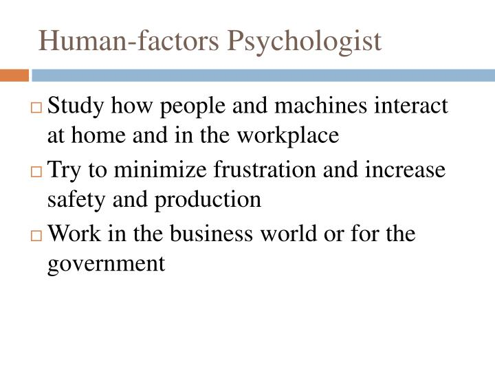 Human-factors Psychologist