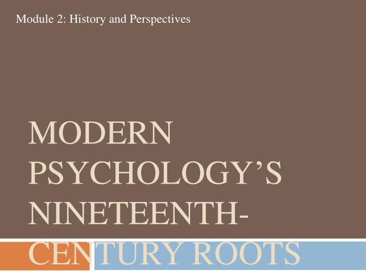 Modern Psychology's Nineteenth-Century Roots