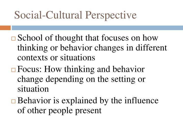 Social-Cultural Perspective