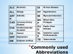 commonly used abbreviations