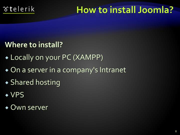 How to install Joomla?
