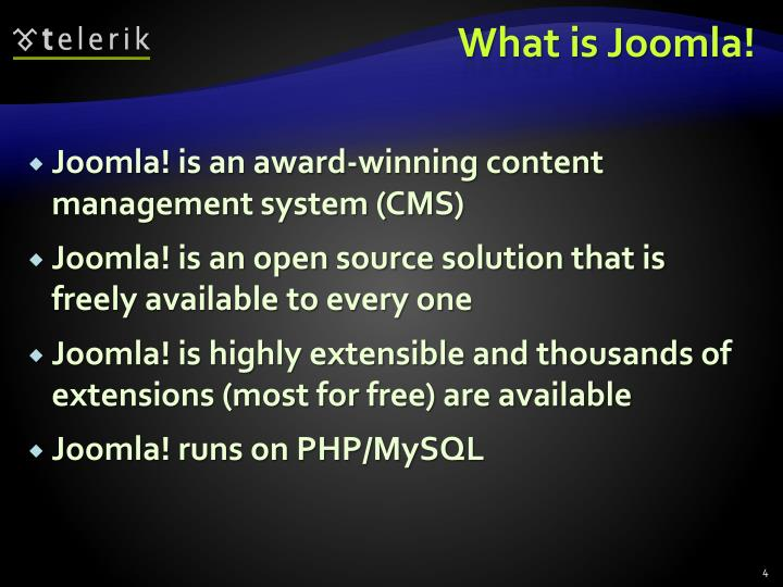 What is Joomla!