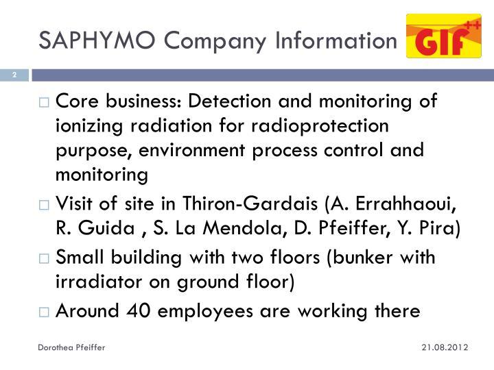 SAPHYMO Company Information