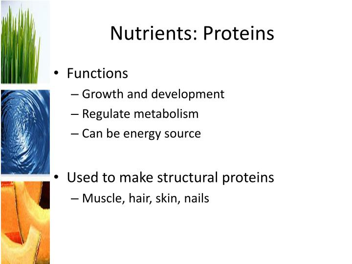 Nutrients: Proteins