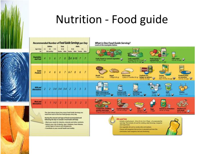Nutrition - Food guide