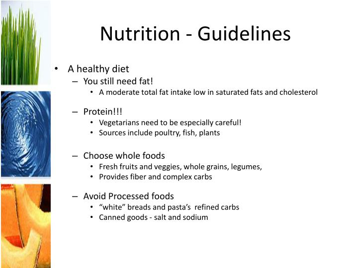Nutrition - Guidelines