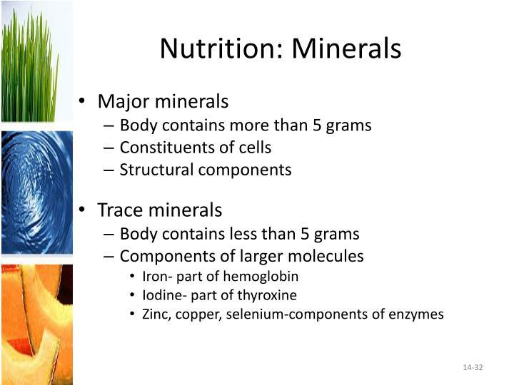 Nutrition: Minerals