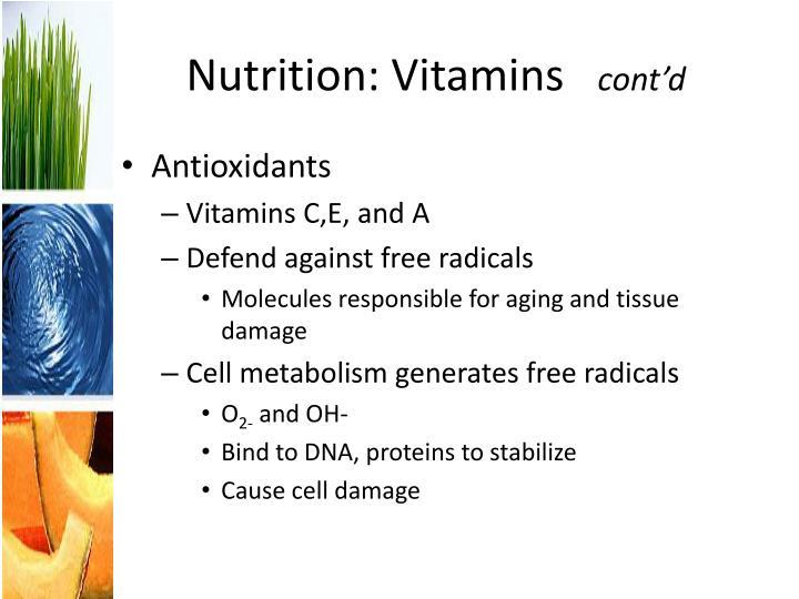 Nutrition: Vitamins