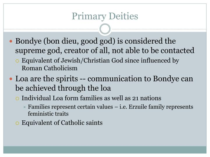 Primary deities
