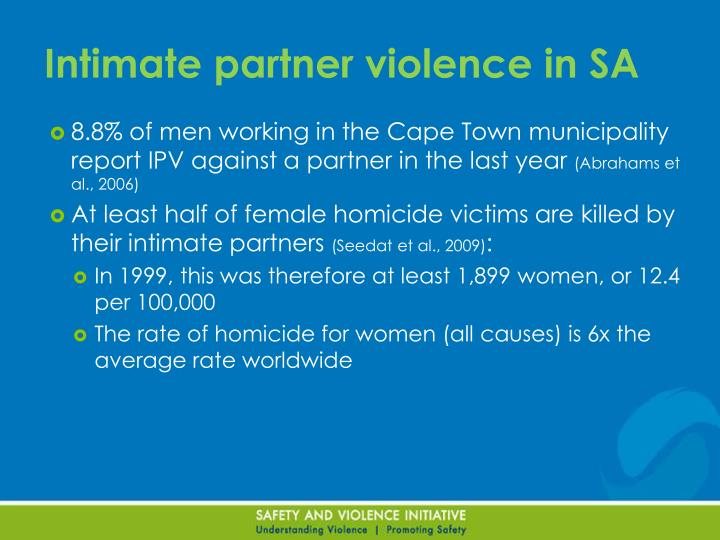 Intimate partner violence in SA
