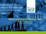 parenting in south african mothers with a history of family violence