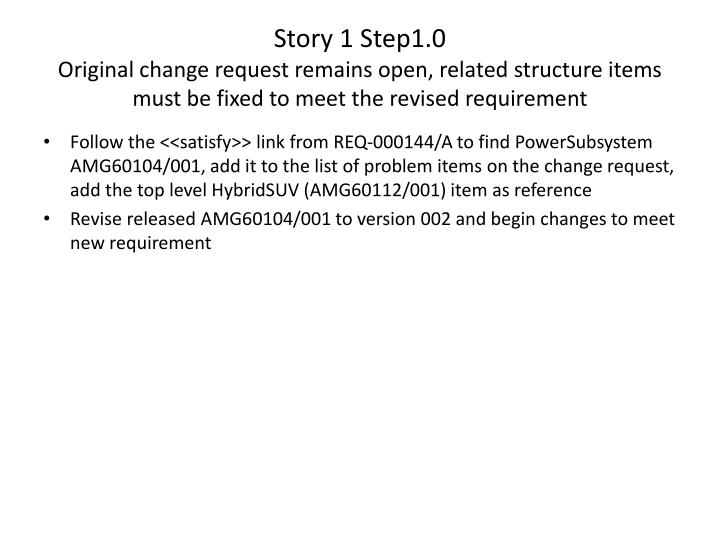 Story 1 Step1.0