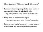 our model discretized streams