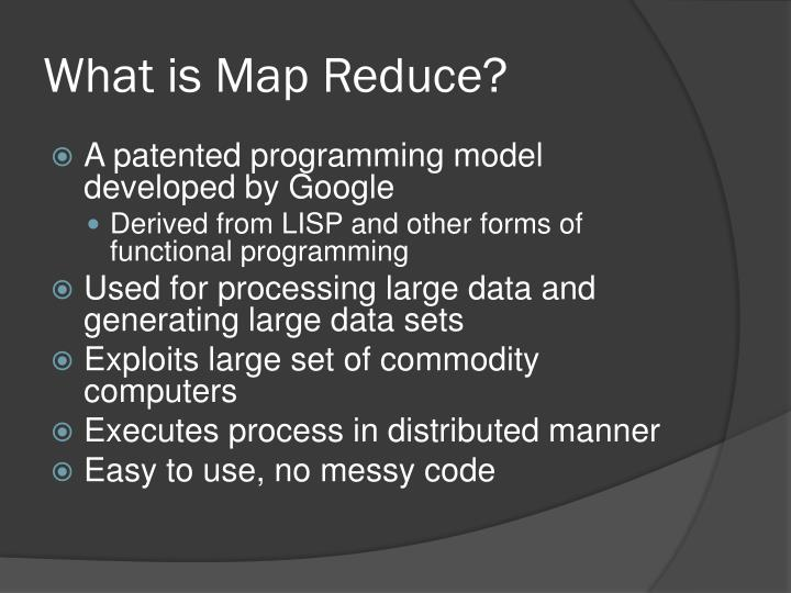 What is map reduce