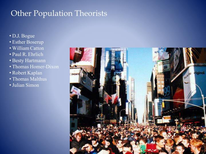 Other Population Theorists