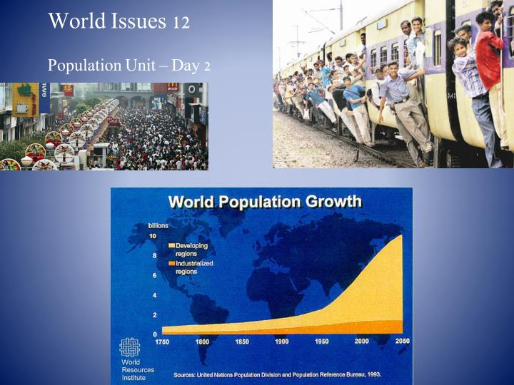 World issues 12 population unit day 2