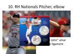10 rh nationals pitcher elbow