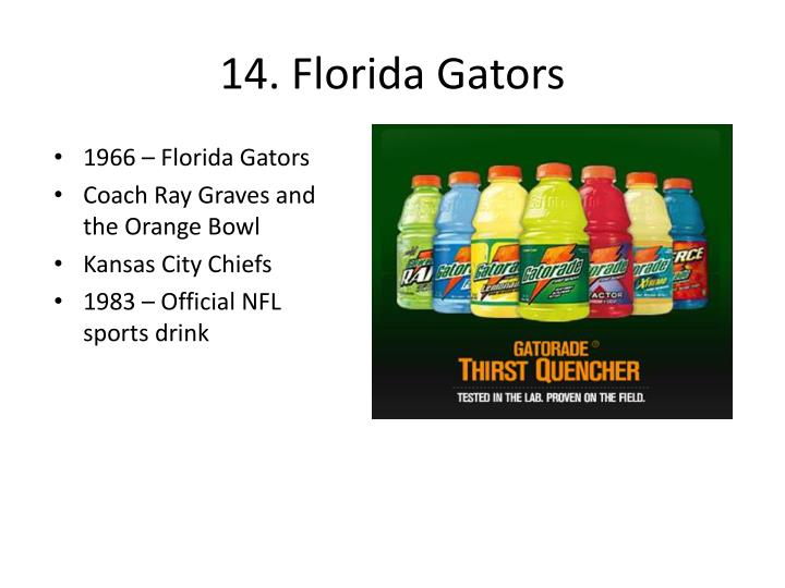 14. Florida Gators