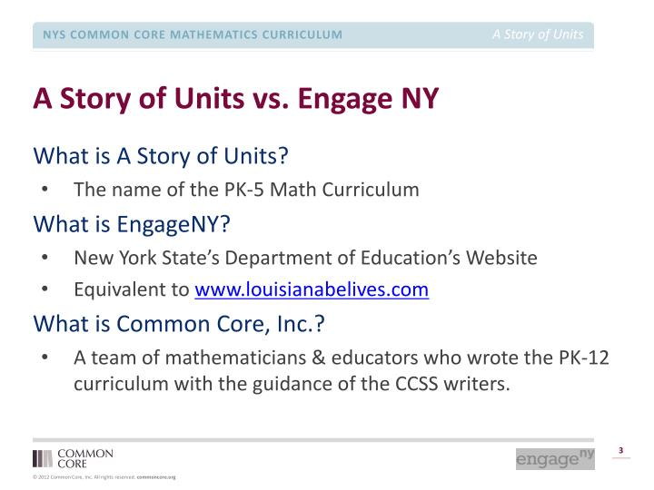 A story of units vs engage ny
