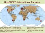 rosbreed international partners
