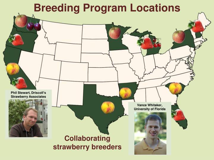 Breeding Program Locations