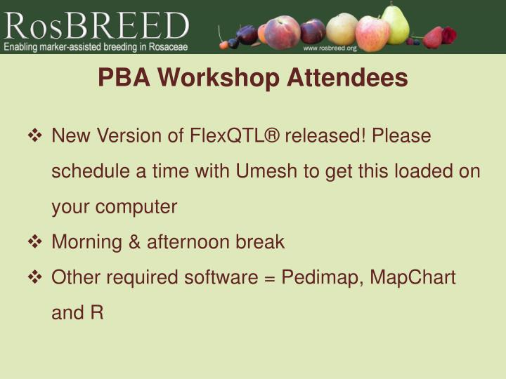 PBA Workshop Attendees