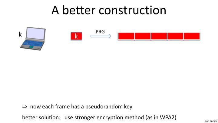 A better construction