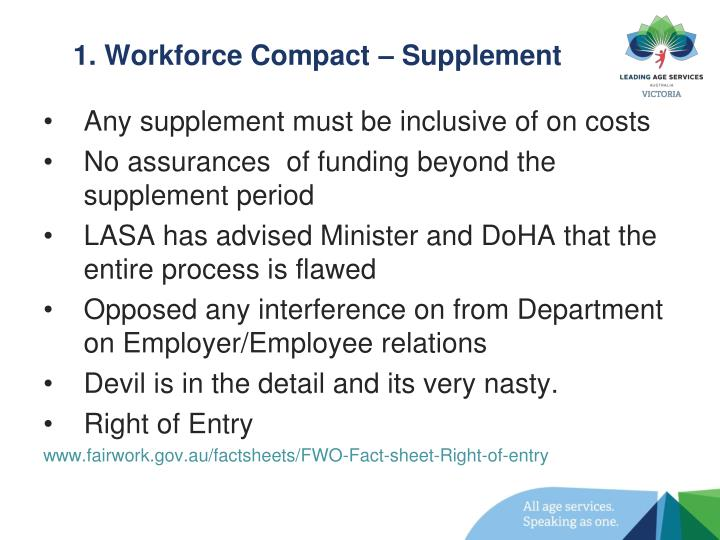 1. Workforce Compact – Supplement