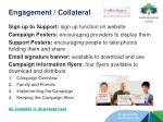 engagement collateral