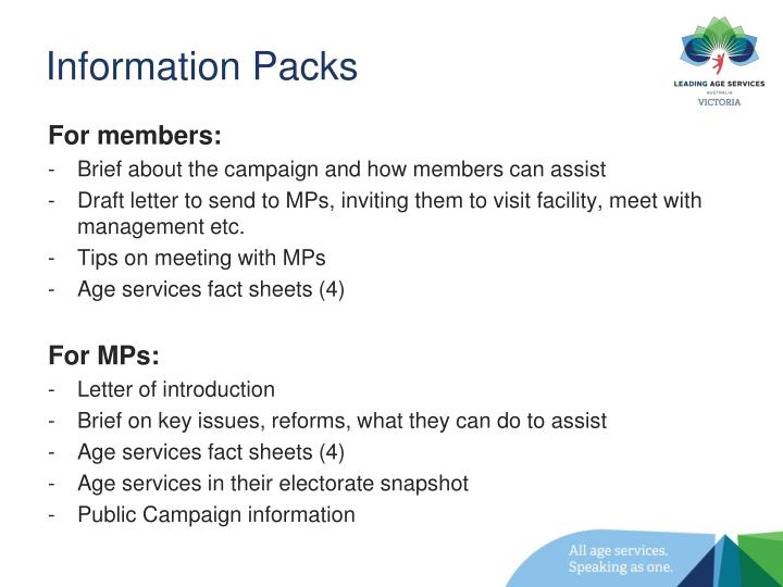 Information Packs