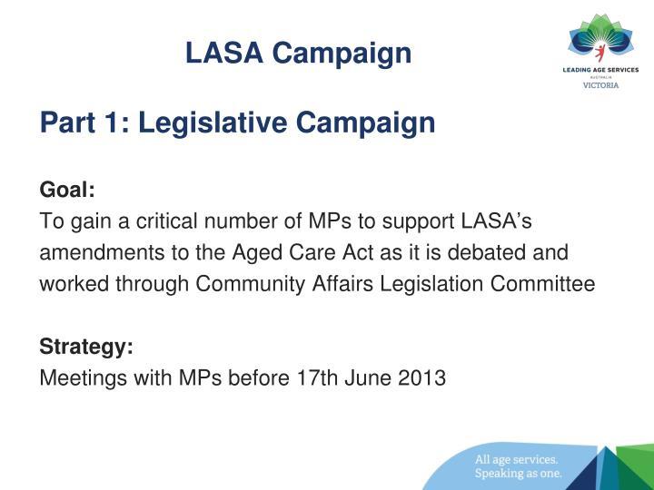 LASA Campaign
